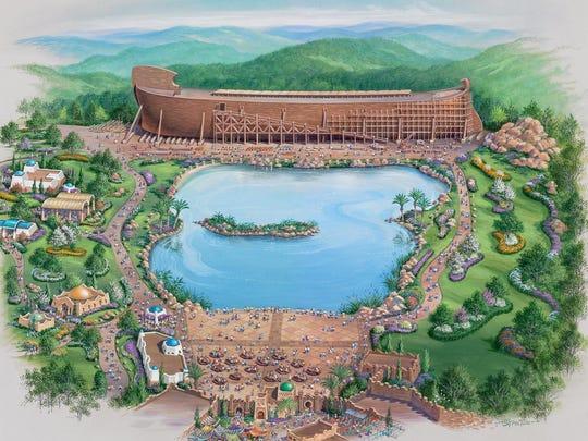 Answers in Genesis artist's rendering of the Ark Encounter, underway in Grant County.