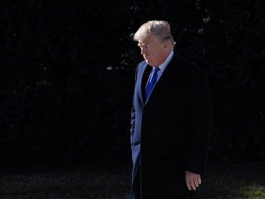U.S President Donald Trump departs the White House  -  DC
