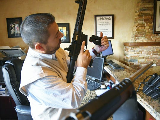 Local gun dealer Scott James said the new ammunition law was designed to keep ammunition out of the wrong hands/.
