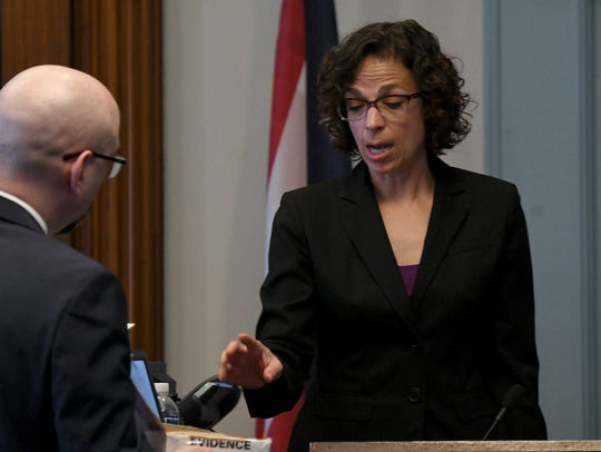Christine Hammett of BCI testifies about a piece of