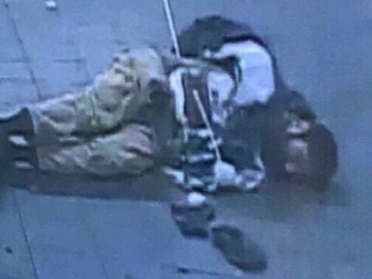 Video captured bombing suspect Akayed Ullah moments after the detonation of the explosives he allegedly was carrying.