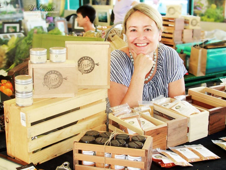 Laura Stearnes initially sold spices at farmers markets.