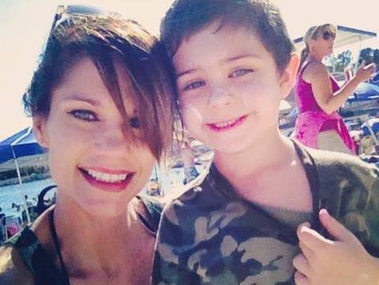 Michelle Littleton and her son Yousef Matar