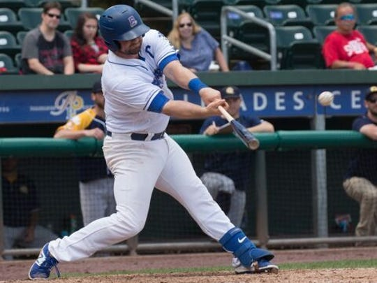Marcus Nidiffer's two-run double led the Rockland Boulders to a 3-2 win over the Quebec Capitales in the first game of a double-header at Palisades Credit Union Park in Pomona, NY on Wednesday. Quebec rebounded to take a 10-4 victory in game two.