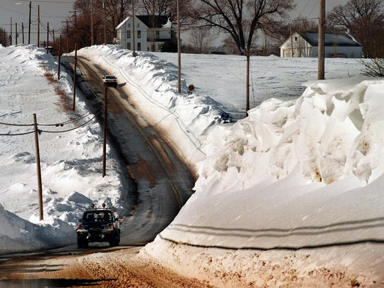 Route 74 near Brogue a week after the blizzard Sunday January 14, 1996.