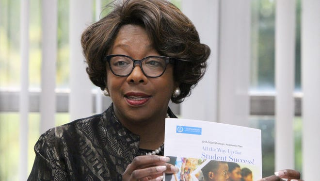 East Ramapo Schools Superintendent Dr. Deborah Wortham meets with the Journal News editorial board at her office in Spring Valley Sept. 20, 2016.
