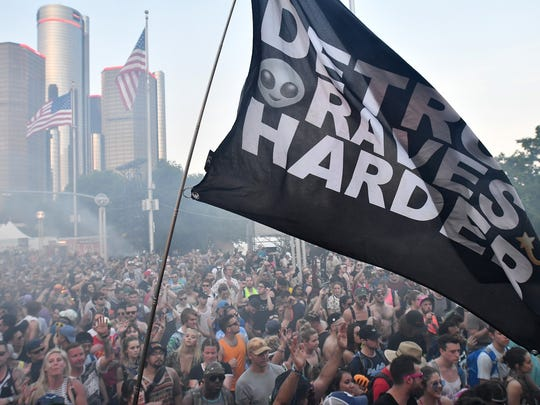 2018 Movement Electronic Music Festival in Hart Plaza