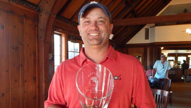 Jamie Faidley won the Des Moines men's city golf championship.