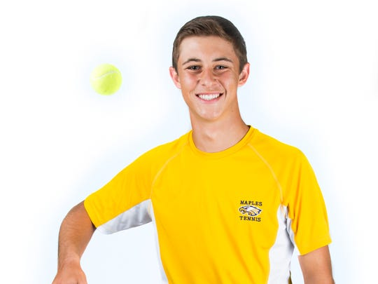2017 Spring Player of the Year finalist Michael Moll, Naples tennis