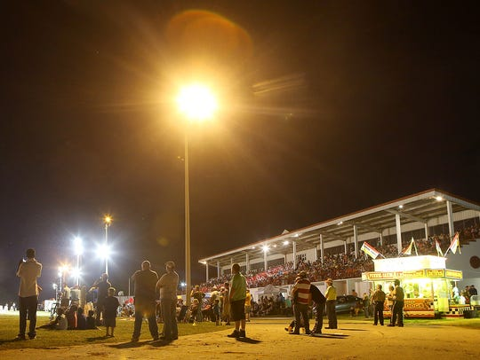 People watch the 45th Annual Budweiser Championship