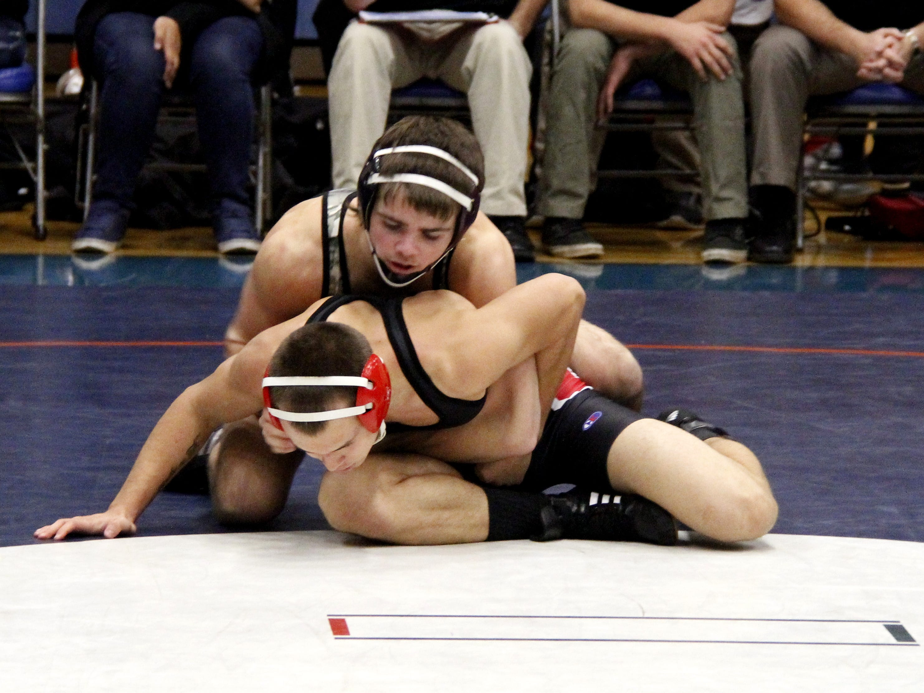 Rogersville senior Ethen Carlberg, top, will attempt to win a Class 2 state championship at 152 pounds. Carlberg went 47-4 in the regular season.