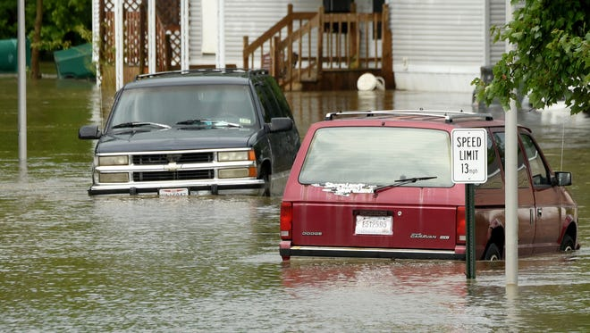 Residents were evacuated from Greenbriar Village in Hebron after heavy rains caused flooding Thursday afternoon.