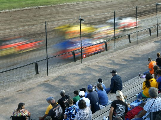 Spectators watch the races at Canandaigua Motorsports Park.