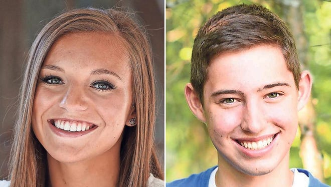 Paige Reynebeau and Thomas Hermsen of Little Chute High School are this week's top scholars.