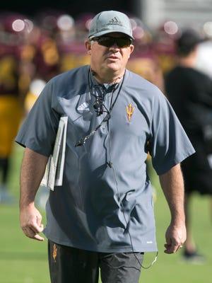 ASU head football coach Todd Graham.
