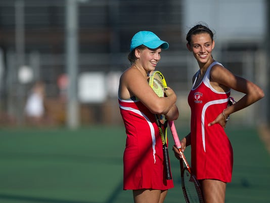 Tia Krzykowski and Nicole Schroeder Pacelli tennis