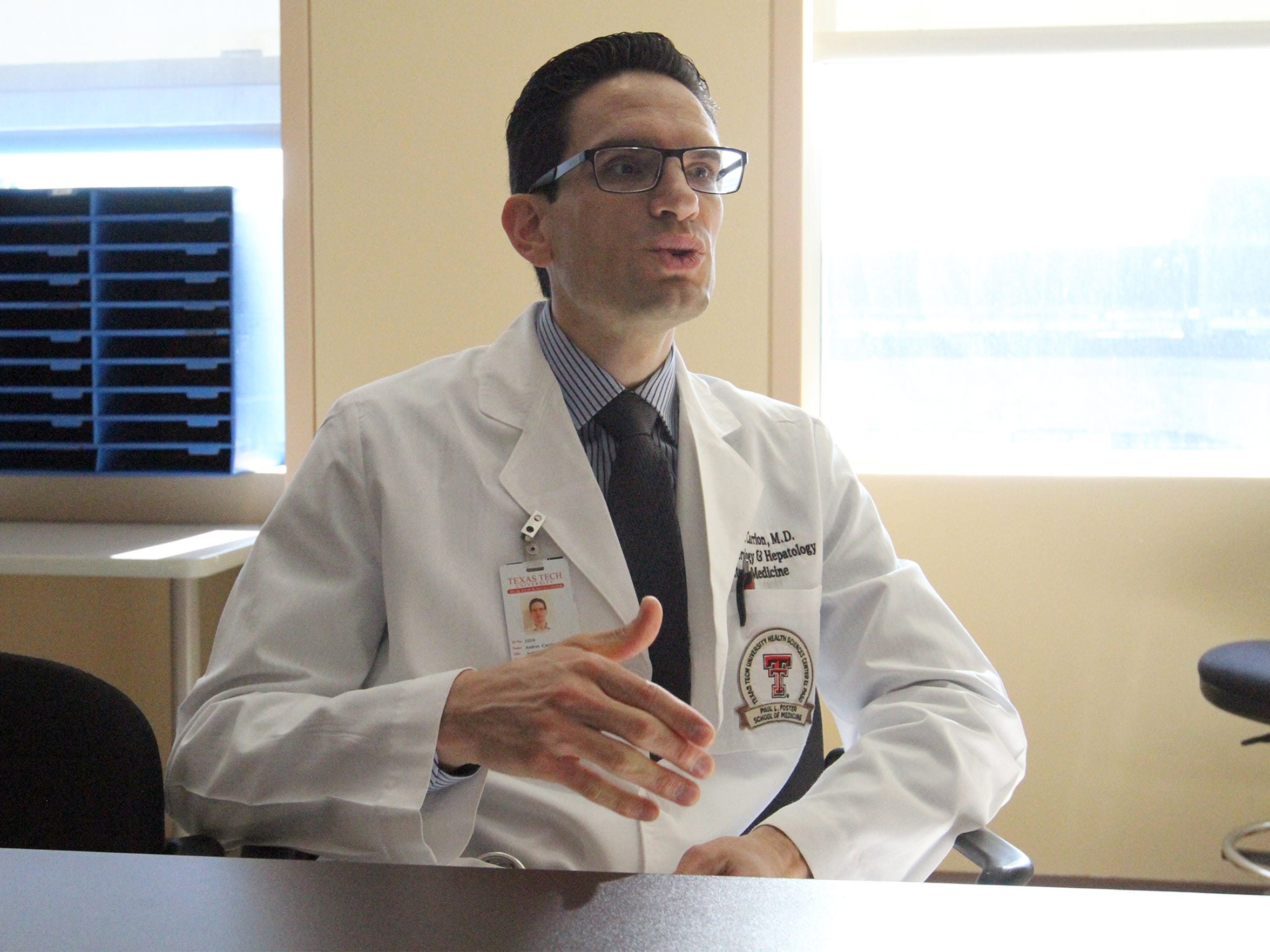 Dr. Andres Carrion is a liver specialist with Texas Tech University Health Sciences Center at El Paso.