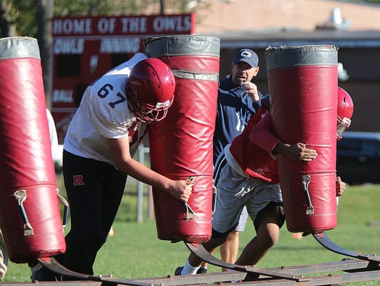 Highland Park head football coach Rich McGlynn at practice