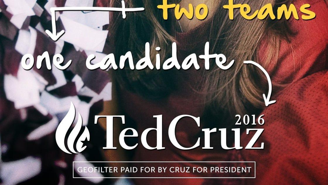 Cruz launching Iowa's first branded Snapchat filter