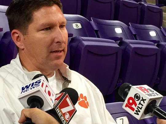 Clemson coach Brad Brownell discusses his team's trip