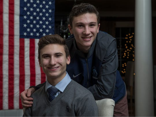 Max Ferraro, 15, and his brother Peter Ferraro, 17, both attend Christian Brothers Academy. The brothers are raising money for a scholarship so a military veteran's son can attend CBA for free.