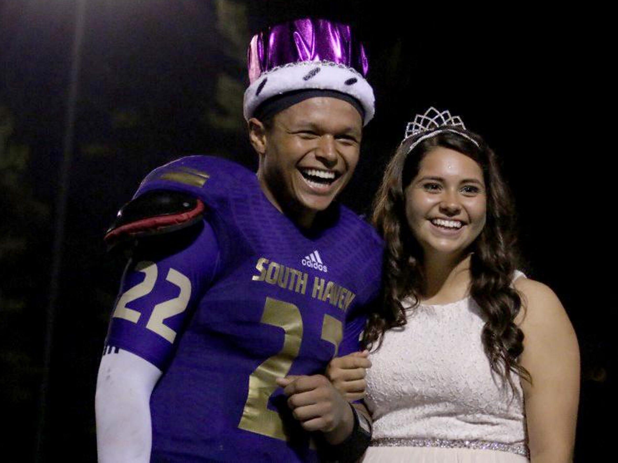 South Haven quarterback Devon Smiley was homecoming