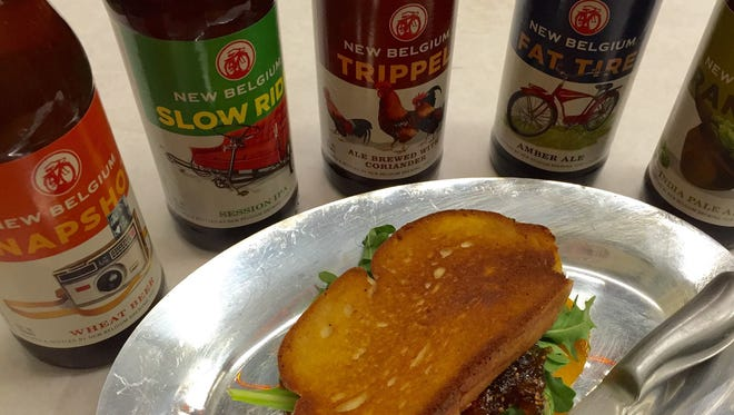 Whole Foods Market's August Beer & Cheese Dinner will feature New Belgium Brewing Company beers and fancy grilled cheeses.