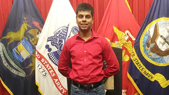 Raheel Siddiqui, 20, of Taylor, died during U.S. Marines boot camp training in South Carolina in March 2016.