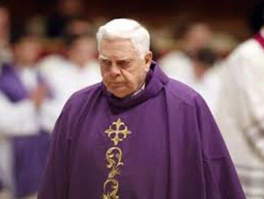 Cardinal Bernard Law is seen at a memorial Mass in
