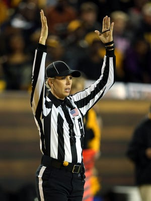 Conference USA official Sarah Thomas, a Brandon resident and Pascagoula native, is the NFL's first female official.
