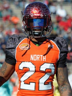 North squad defensive corner Quinten Rollins of Miami University during the Senior Bowl in January.