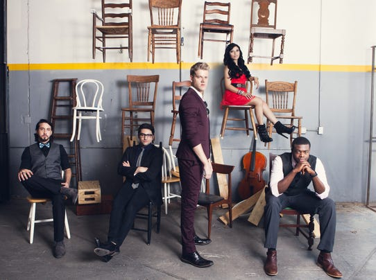 Pentatonix Chair shot by Brandon Lyon hi-res
