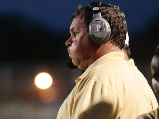 New Iberia Senior High coach Rick Hutson doesn't tell recruits where to go to college.