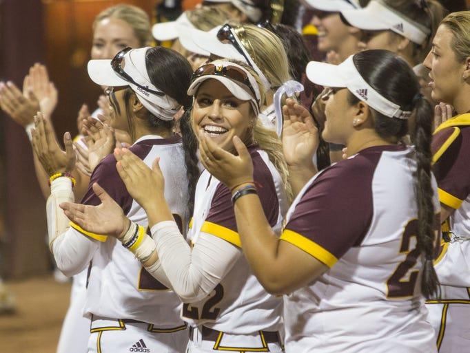 Arizona State celebrates its victory against Ole Miss