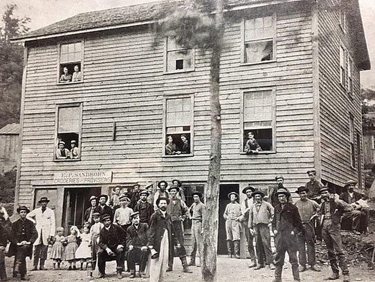 The Elias Sandborn store in Belvidere, Alleghany County,