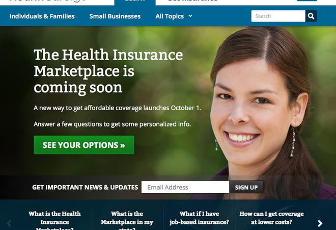 This is a screenshot from the updated website for www.healthcare.gov, which features information about the Health Insurance Marketplace. Consumer advocates suggest using official sites such as HealthCare.gov to learn about the new law.