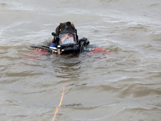 Piermont Fire Department volunteer diver Tim Piesco,