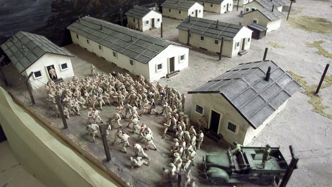 A model of the Papago POW Camp during WWII at the Arizona Military Museum.