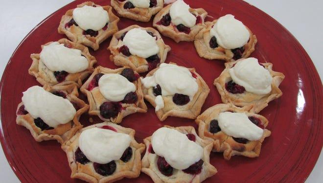 Mini galettes with Grand Marnier whipped cream