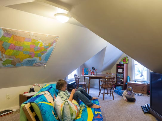 The large attic, which has plenty of space for playing,