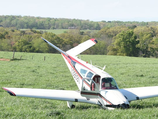 No one was injured in the emergency landing Monday afternoon in Anderson County.