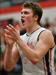 Oak Hills' Nick Deifel celebrates the Highlanders victory