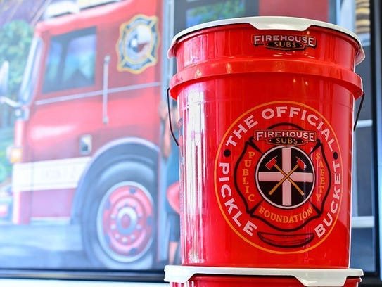 Firehouse Subs pickle bucket.
