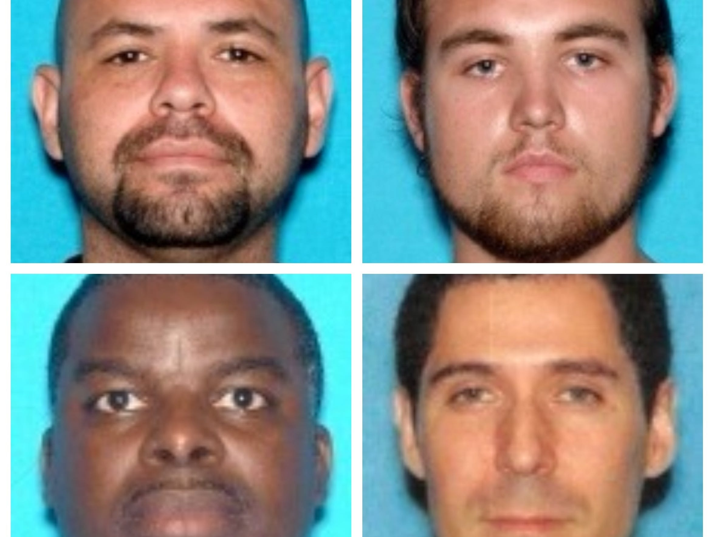 From left to right, clockwise: George Castillo, 36,
