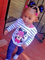 1-year-old Malaysia was shot while she slept in her home in the 3500 block of N. Wittfield St. in the early morning hours of Thursday, March 29, 2018.