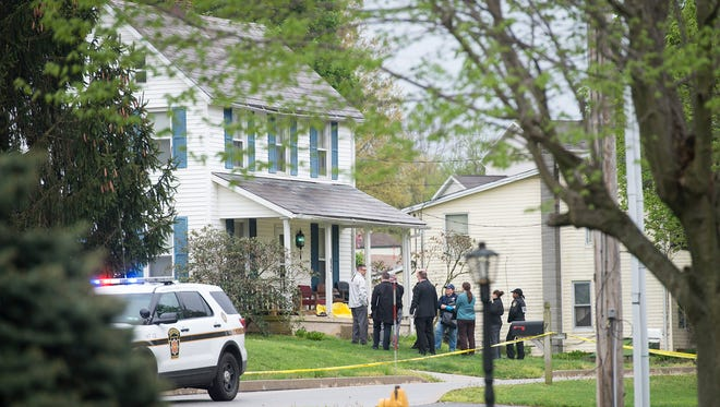 A man who shot at state police troopers in Hopewell Township early Monday morning died from his injuries after police returned fire, officials said.