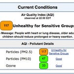 Air quality readings.