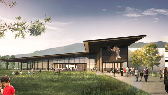 Renderings of the new Tillamook visitor's center, redesigned by Olson Kundig.