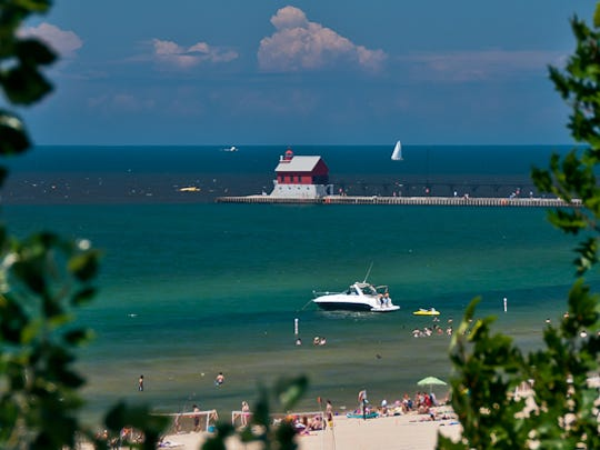 The beach in Grand Haven.
