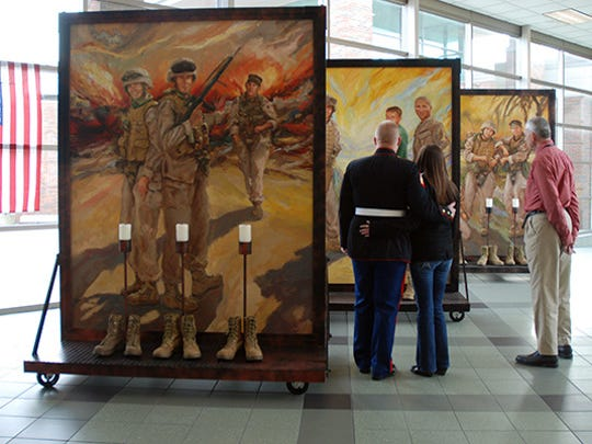 """The Eyes of Freedom: Lima Company Memorial,"" by Anita Miller, will be on display in Clarksville during Welcome Home Veterans Week."